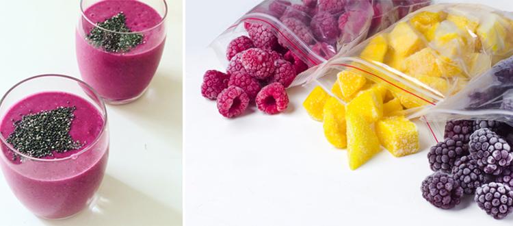 Smoothie met bevroren fruit